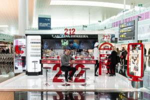 Pop Up Retail 212 CH Puig Aeropuerto T1 Barcelona Produccion KOA